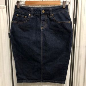 EUC London Jeans - Denim Pencil Skirt - Size 0